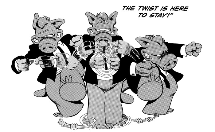 Cerebus does the twist