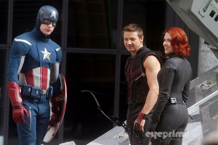 Avengers on location