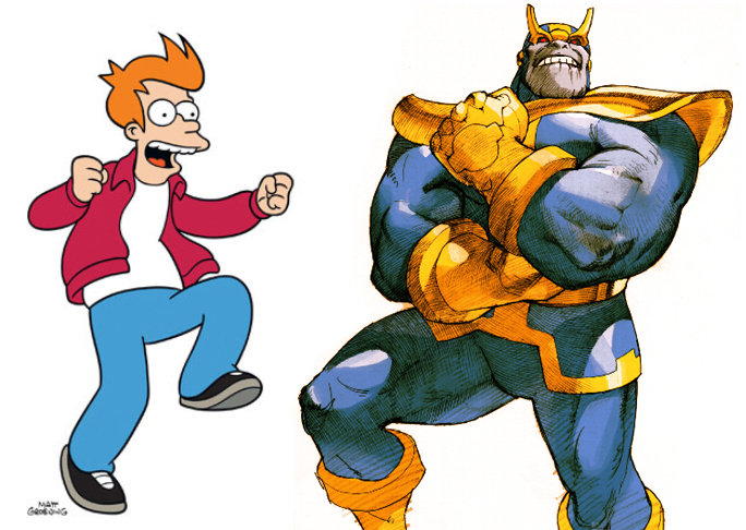 Thanos and Fry